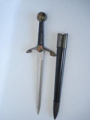 Espada Adaga Black Prince 48cm Templaria Medieval Ke5573  - Presente Presente