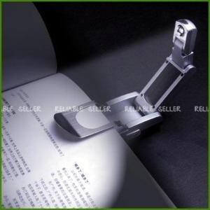 Luminaria Led Com Clip Para Leitura Livro Revista Lanterna  - Presente Presente