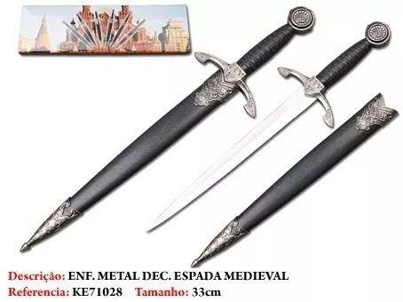 Punhal Medieval Novo Importado  - Presente Presente