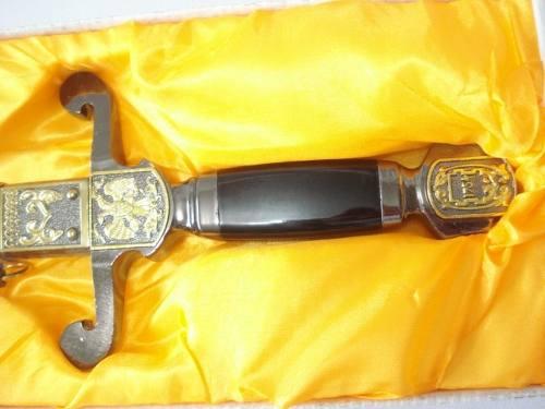 Espada Aguia Bicefala Cavaleiro Templario Maçonica Ke1258  - Presente Presente