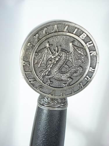 Espada Medieval Excalibur Prata 120cm Rei Arthur Sc900sl-b  - Presente Presente