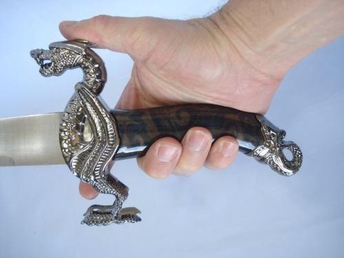 Espada Adaga Dragão Rei 45cm Fl5088  - Presente Presente