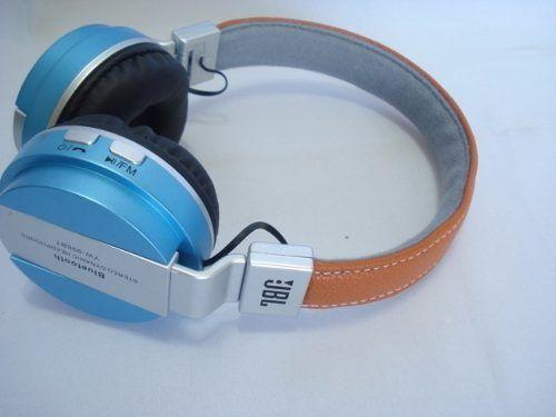 Fone De Ouvido Bluetooth Azul Stereo Universal Wireless  - Presente Presente