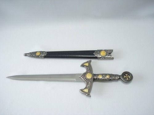 Espada Adaga Medieval 48cm Ordem Templaria Cruzadas  - Presente Presente