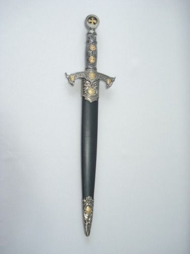 Espada Adaga Medieval 40cm Ordem Templaria Cruzadas Ke2037  - Presente Presente