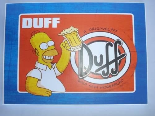 Placa Metal Os Simpsons 40x30 Duff  - Presente Presente
