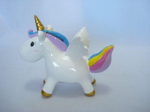 Cofre Unicornio Colorido Em Resina  - Presente Presente
