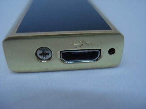 Isqueiro Luxo Recarregável Usb Elétrico Eletrônico  - Presente Presente