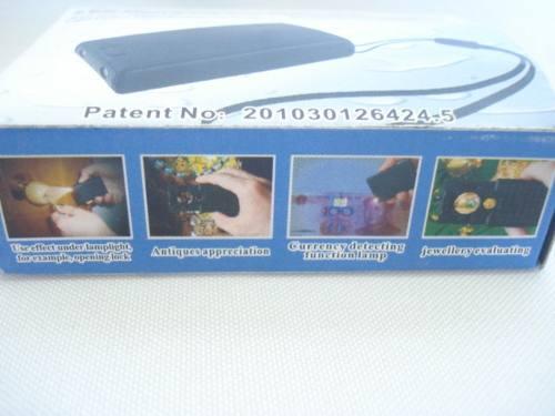 4 Peças Lupa Joalheiro Lente 21mm 30x 45x 60x Luz Led Uv  - Presente Presente