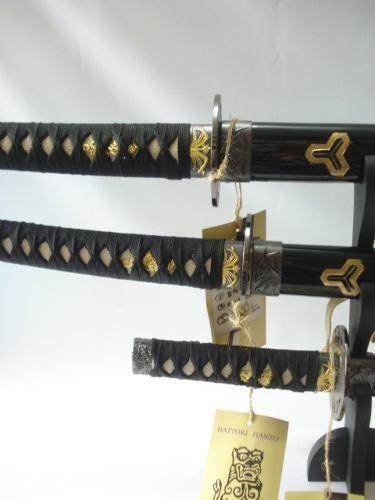 Conjunto 3 Espadas Samurai Hattori Hanzo Kill Bill  - Presente Presente