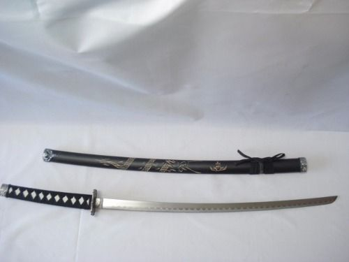 Espada Katana 2 Peças Dragão Preto C/ Suporte  - Presente Presente