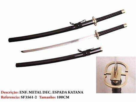 Espada Katana Samurai Preta Super Promoção  - Presente Presente