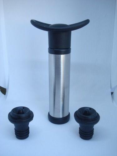 Bomba Fechamento À Vácuo Vinho Garrafa Vinho C 2 Tampas  - Presente Presente