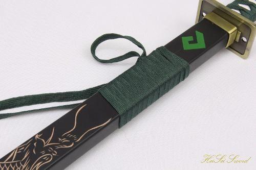 Espada Katana 105cm Genji Overwatch Game Cosplay Aço Carbono  - Presente Presente