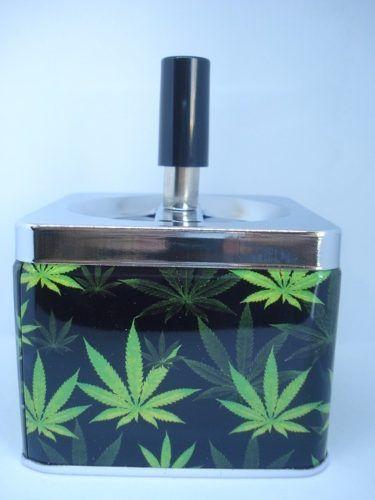 Cinzeiro Bob Marley Metal Cigarro Folha Coleção Quad  - Presente Presente