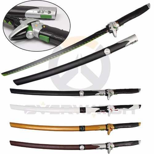Espada Katana 105cm Ninja Overwatch Cosplay Dragão Preto  - Presente Presente
