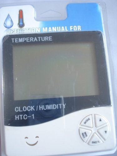 Termômetro Digital Com Relógio Umidade E Calendário  - Presente Presente