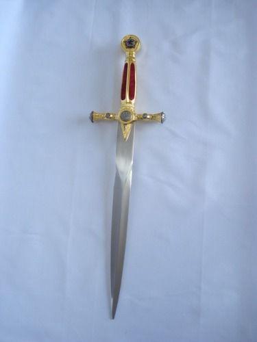 Espada Maçonica Adaga 55cm Ke4915rd-1  - Presente Presente