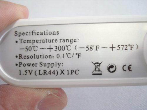 Termômetro Culinário Digital Branco  - Presente Presente