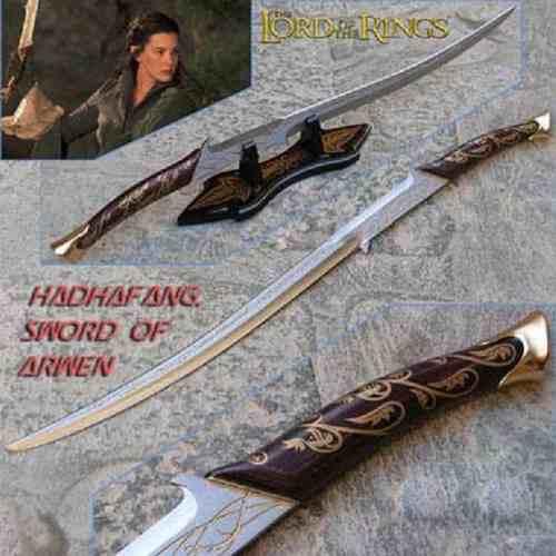 Espada Arwen Senhor Dos Anéis Elfica Hadhafang  - Presente Presente