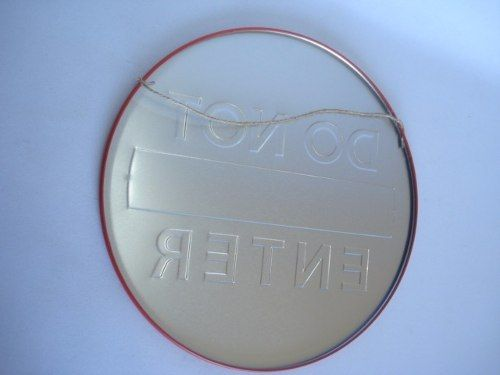 Placa Metal Do Not Enter Decoração Coleção  - Presente Presente