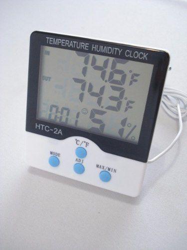 Termômetro Digital Com Relógio Interno E Externo  - Presente Presente