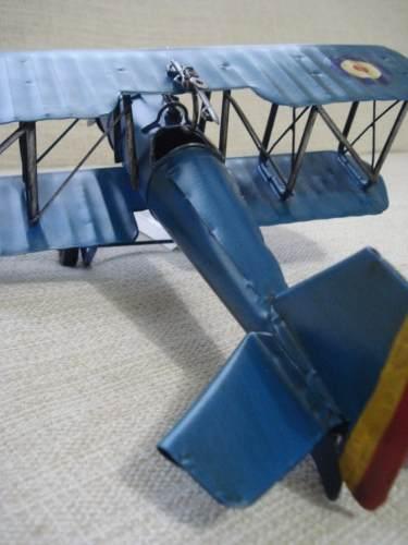 Avião Batalha Miniatura Metal Azul Red Target  - Presente Presente