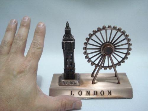 Miniatura Roda Gigante Big Ben Londres Enfeite Luxo  - Presente Presente