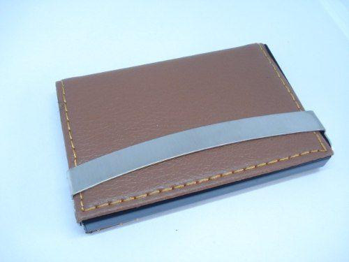Porta Cartão Credito Caramelo C Alça Metal Mini Carteira  - Presente Presente