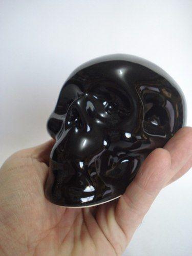 Cofre Cranio Caveira Preta Black Skull  - Presente Presente