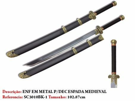 Espada Medieval Barbaro 102cm Lançamento Aço Sf301  - Presente Presente