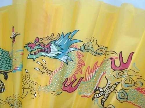 10 Peças Leque Oriental Dragon Dança Kung Fu Tai Chi Chuan  - Presente Presente