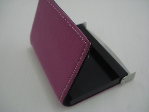 Porta Cartão De Visitas PINK Inox   - Presente Presente