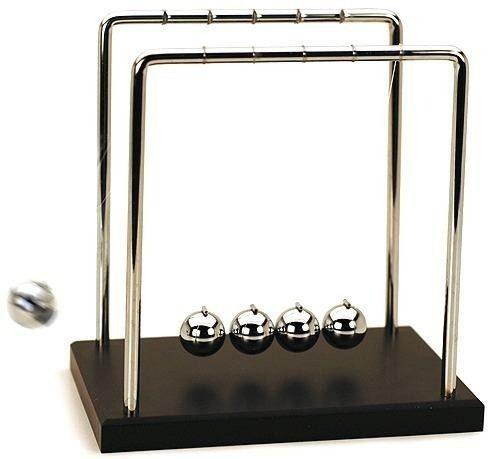 Pendulo De Newton Pequeno Decoração Escritório Jogo De Bolas  - Presente Presente