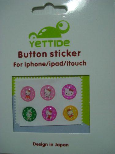 Adesivo Botão Iniciar HELLO KITTY Iphone Ipad Ipod  - Presente Presente