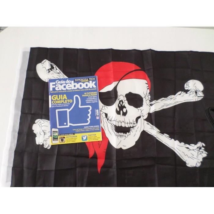 Bandeira Pirata Jolly Roger 90x60cm  - Presente Presente