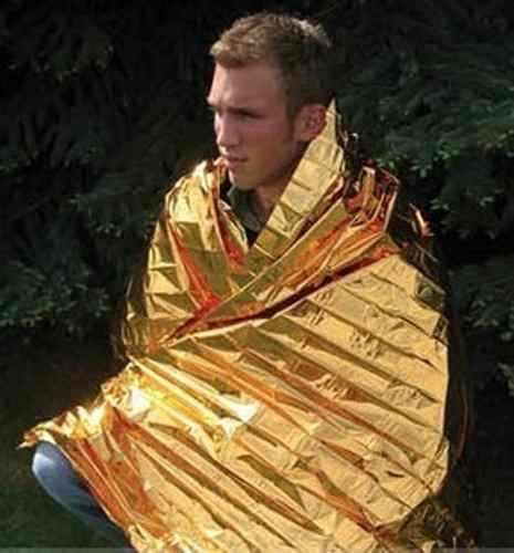 Cobertor Termico De Emergencia Aluminizado 210x160 Cm  - Presente Presente