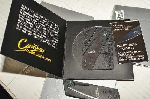 Kit Cartão Multi-uso + Faca Cartão P/ Camping Trilhas Viagem  - Presente Presente