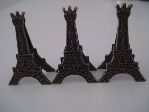 Clipe Prendedor De Papel Torre Eiffel 3 Peças  - PRESENTEPRESENTE