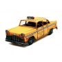Taxi Nyc Metal Decoração Amarelo Vintage