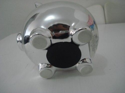 Cofre Porquinho Prata Espelhado  - Presente Presente
