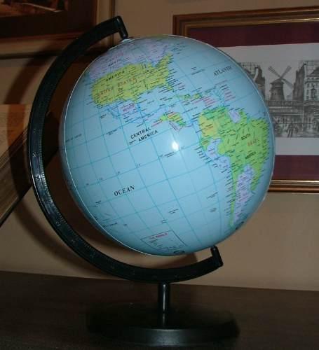 Globo Terrestre Inflável Planisfério Escolar Geografia  - Presente Presente