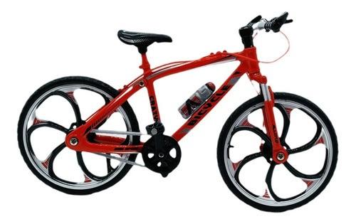 Miniatura Bicicleta Moutain Bike Mini Vermelha Crazy  - Presente Presente