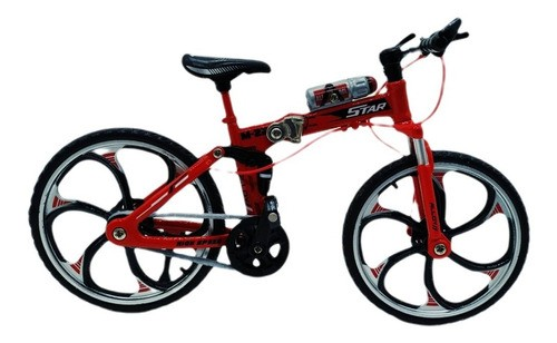 Miniatura Bicicleta Moutain Bike Mini Vermelha Crazy Aero  - Presente Presente