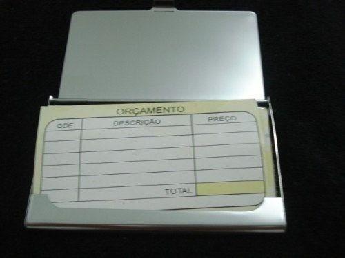 Porta Cartão De Visitas Inox  - Presente Presente