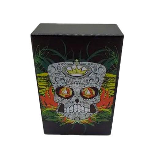 Porta Cigarros Case Cigarreira Carteira 20 Caveira Orange  - Presente Presente
