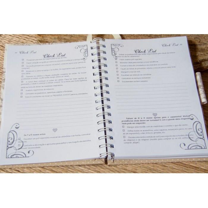 Kit de Agenda da Noiva e Pasta da Noiva Belle