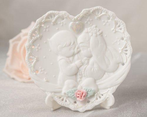 Porta-Aliança de Casamento Precious Moments Porcelana
