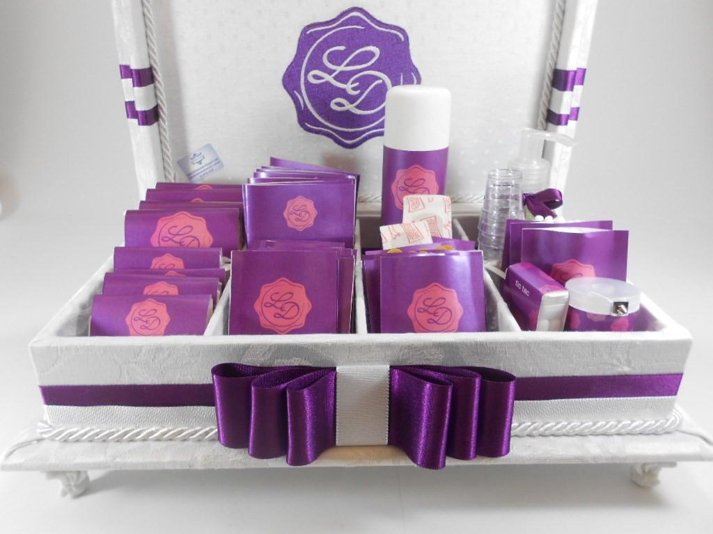 Caixa de toalete - kit de casamento - Festa
