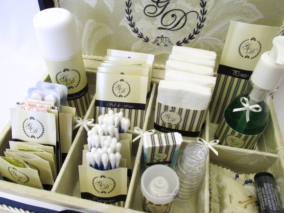 Caixa de toalete - kit de casamento - Bleu